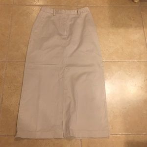 Eddie Bauer long skirt with slit in the front
